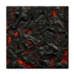 Volcanic Lava Background Effect Face Towel by Simbadda
