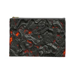 Volcanic Lava Background Effect Cosmetic Bag (large)  by Simbadda