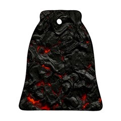 Volcanic Lava Background Effect Bell Ornament (two Sides) by Simbadda