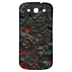 Volcanic Lava Background Effect Samsung Galaxy S3 S Iii Classic Hardshell Back Case by Simbadda