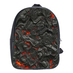 Volcanic Lava Background Effect School Bags (xl)  by Simbadda