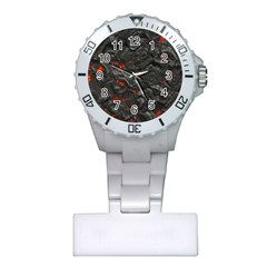 Volcanic Lava Background Effect Plastic Nurses Watch by Simbadda