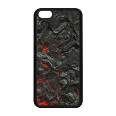 Volcanic Lava Background Effect Apple Iphone 5c Seamless Case (black) by Simbadda