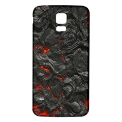 Volcanic Lava Background Effect Samsung Galaxy S5 Back Case (white) by Simbadda