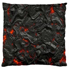 Volcanic Lava Background Effect Standard Flano Cushion Case (two Sides)