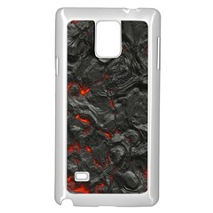 Volcanic Lava Background Effect Samsung Galaxy Note 4 Case (white) by Simbadda