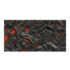 Volcanic Lava Background Effect Satin Wrap