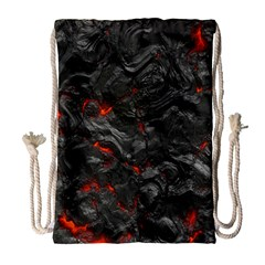 Volcanic Lava Background Effect Drawstring Bag (large) by Simbadda