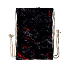 Volcanic Lava Background Effect Drawstring Bag (small)