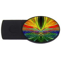 Future Abstract Desktop Wallpaper Usb Flash Drive Oval (4 Gb)