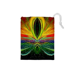 Future Abstract Desktop Wallpaper Drawstring Pouches (small)