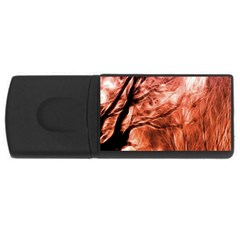 Fire In The Forest Artistic Reproduction Of A Forest Photo Usb Flash Drive Rectangular (4 Gb) by Simbadda