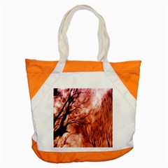Fire In The Forest Artistic Reproduction Of A Forest Photo Accent Tote Bag by Simbadda