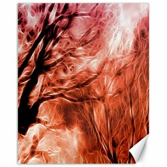 Fire In The Forest Artistic Reproduction Of A Forest Photo Canvas 16  X 20