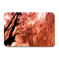 Fire In The Forest Artistic Reproduction Of A Forest Photo Plate Mats