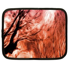 Fire In The Forest Artistic Reproduction Of A Forest Photo Netbook Case (xl)