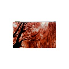 Fire In The Forest Artistic Reproduction Of A Forest Photo Cosmetic Bag (small)  by Simbadda