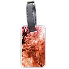 Fire In The Forest Artistic Reproduction Of A Forest Photo Luggage Tags (one Side)  by Simbadda