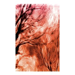 Fire In The Forest Artistic Reproduction Of A Forest Photo Shower Curtain 48  X 72  (small)  by Simbadda