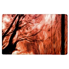 Fire In The Forest Artistic Reproduction Of A Forest Photo Apple Ipad 3/4 Flip Case by Simbadda