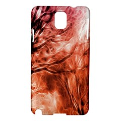 Fire In The Forest Artistic Reproduction Of A Forest Photo Samsung Galaxy Note 3 N9005 Hardshell Case by Simbadda