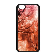Fire In The Forest Artistic Reproduction Of A Forest Photo Apple Iphone 5c Seamless Case (black)