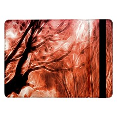 Fire In The Forest Artistic Reproduction Of A Forest Photo Samsung Galaxy Tab Pro 12 2  Flip Case by Simbadda