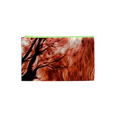 Fire In The Forest Artistic Reproduction Of A Forest Photo Cosmetic Bag (xs) by Simbadda