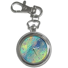 Colorful Patterned Glass Texture Background Key Chain Watches by Simbadda