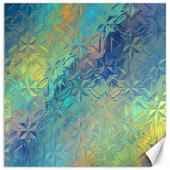 Colorful Patterned Glass Texture Background Canvas 12  X 12   by Simbadda