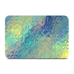 Colorful Patterned Glass Texture Background Plate Mats by Simbadda