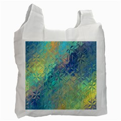 Colorful Patterned Glass Texture Background Recycle Bag (two Side)