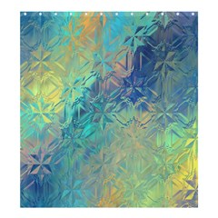 Colorful Patterned Glass Texture Background Shower Curtain 66  X 72  (large)
