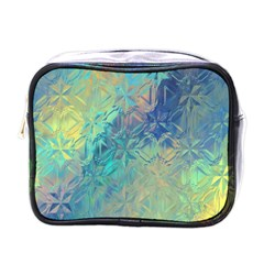 Colorful Patterned Glass Texture Background Mini Toiletries Bags by Simbadda