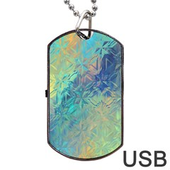 Colorful Patterned Glass Texture Background Dog Tag Usb Flash (one Side) by Simbadda