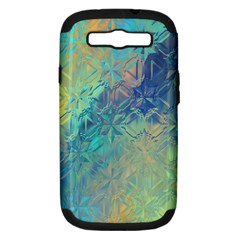 Colorful Patterned Glass Texture Background Samsung Galaxy S Iii Hardshell Case (pc+silicone)