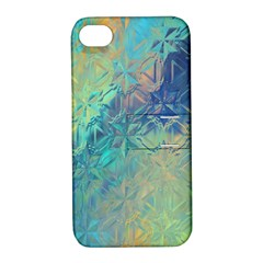 Colorful Patterned Glass Texture Background Apple Iphone 4/4s Hardshell Case With Stand by Simbadda