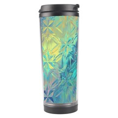 Colorful Patterned Glass Texture Background Travel Tumbler by Simbadda
