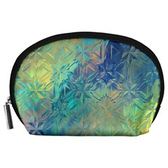 Colorful Patterned Glass Texture Background Accessory Pouches (large)  by Simbadda