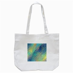 Colorful Patterned Glass Texture Background Tote Bag (white) by Simbadda