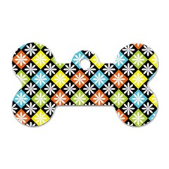 Diamond Argyle Pattern Colorful Diamonds On Argyle Style Dog Tag Bone (two Sides)
