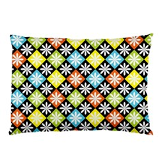 Diamond Argyle Pattern Colorful Diamonds On Argyle Style Pillow Case by Simbadda