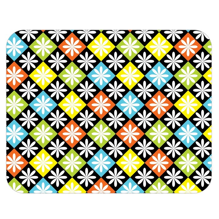 Diamond Argyle Pattern Colorful Diamonds On Argyle Style Double Sided Flano Blanket (Medium)