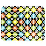 Diamond Argyle Pattern Colorful Diamonds On Argyle Style Double Sided Flano Blanket (Medium)  60 x50 Blanket Back