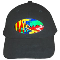 Bright Colours Abstract Black Cap