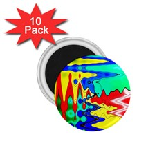 Bright Colours Abstract 1 75  Magnets (10 Pack)