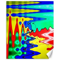 Bright Colours Abstract Canvas 16  X 20