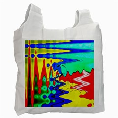 Bright Colours Abstract Recycle Bag (two Side)