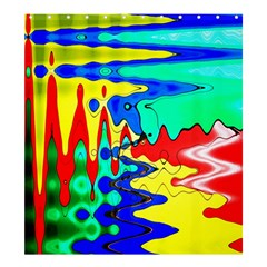 Bright Colours Abstract Shower Curtain 66  X 72  (large)  by Simbadda