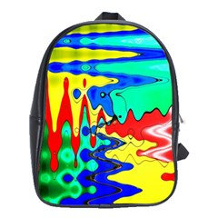 Bright Colours Abstract School Bags (xl)  by Simbadda